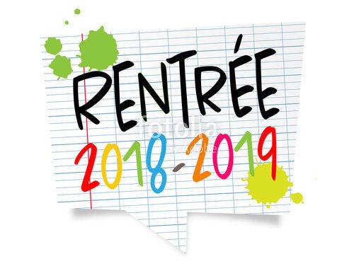 Rentrée scolaire 2018-2019